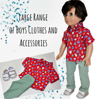 boy dolls, dolls clothes, dolls shoes, doll accessories