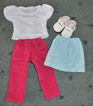 Sew Nice Dolls Clothes and Accessories range of separates