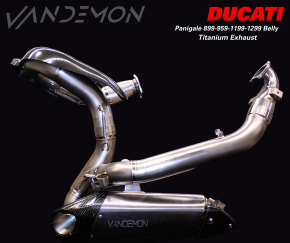 Ducati Panigale 899,959,1199,1299 Titanium Belly Exhaust System 2011-20