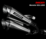 Monster 821 & 1200-1200S Full Titanium Exhaust System 2014-20