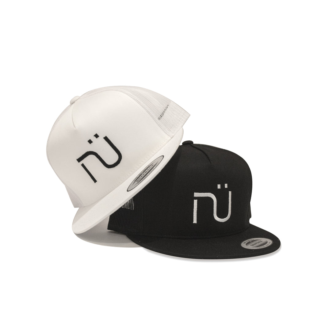 NÜ Snapback Hat x 2 (1 black & 1 white)