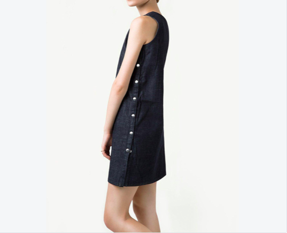 Rakha Organic Denim Midi Dress