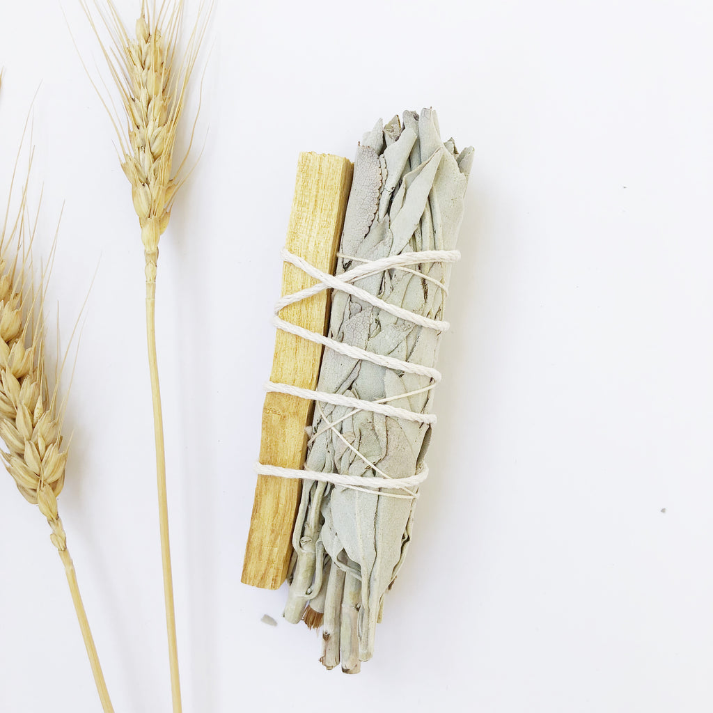White Sage + Palo Santo Smudge Bundle