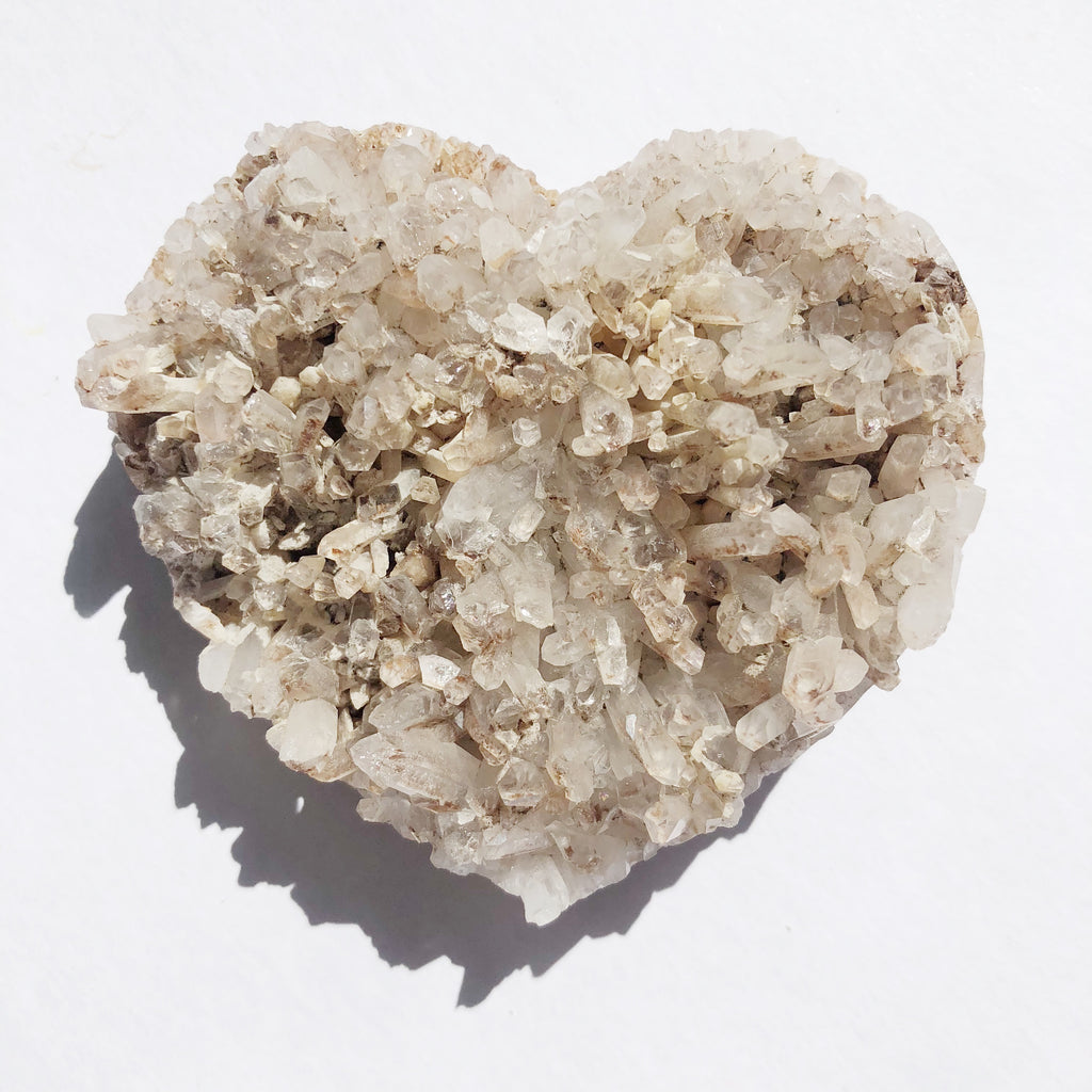 Natural Quartz Geode Heart Cluster