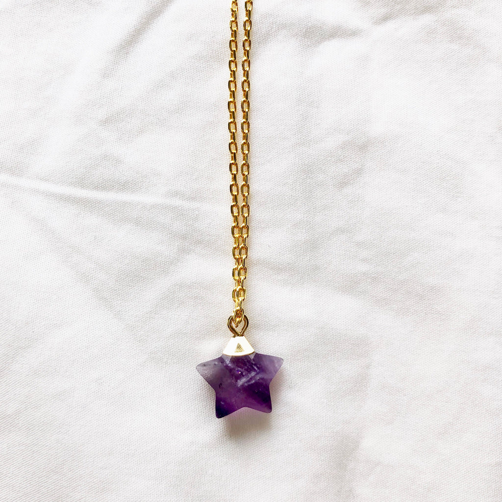 Amethyst Star Necklace