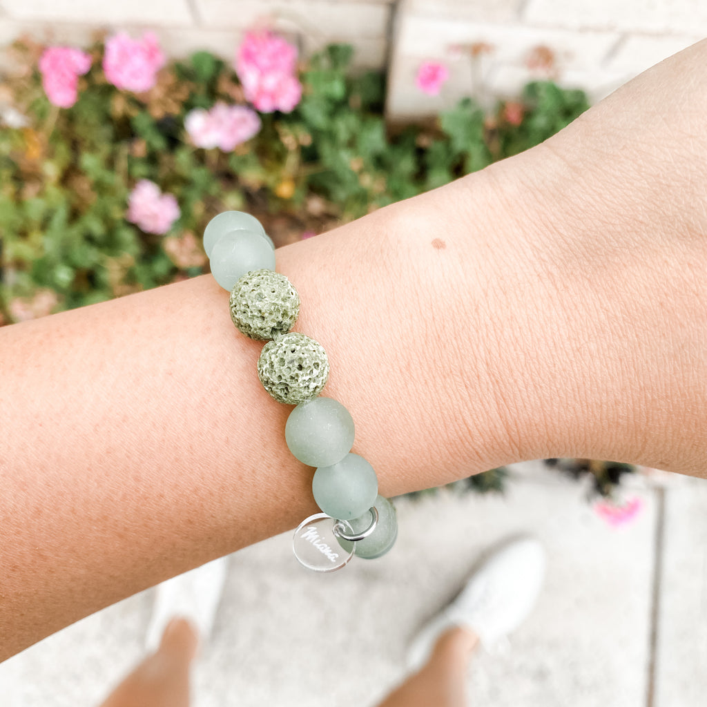 Green Aventurine + Spearmint Essential Oil Diffuser Bracelet