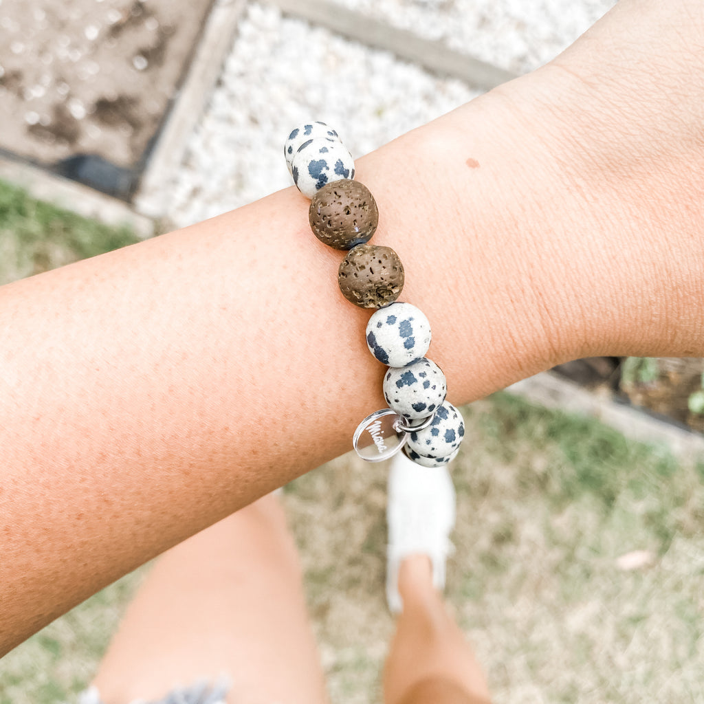 Dalmatian + Tea Tree Essential Oil Diffuser Bracelet