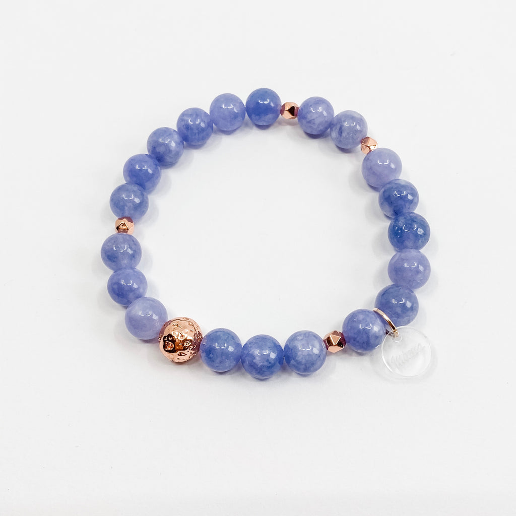Angelite + Rose Gold Bracelet