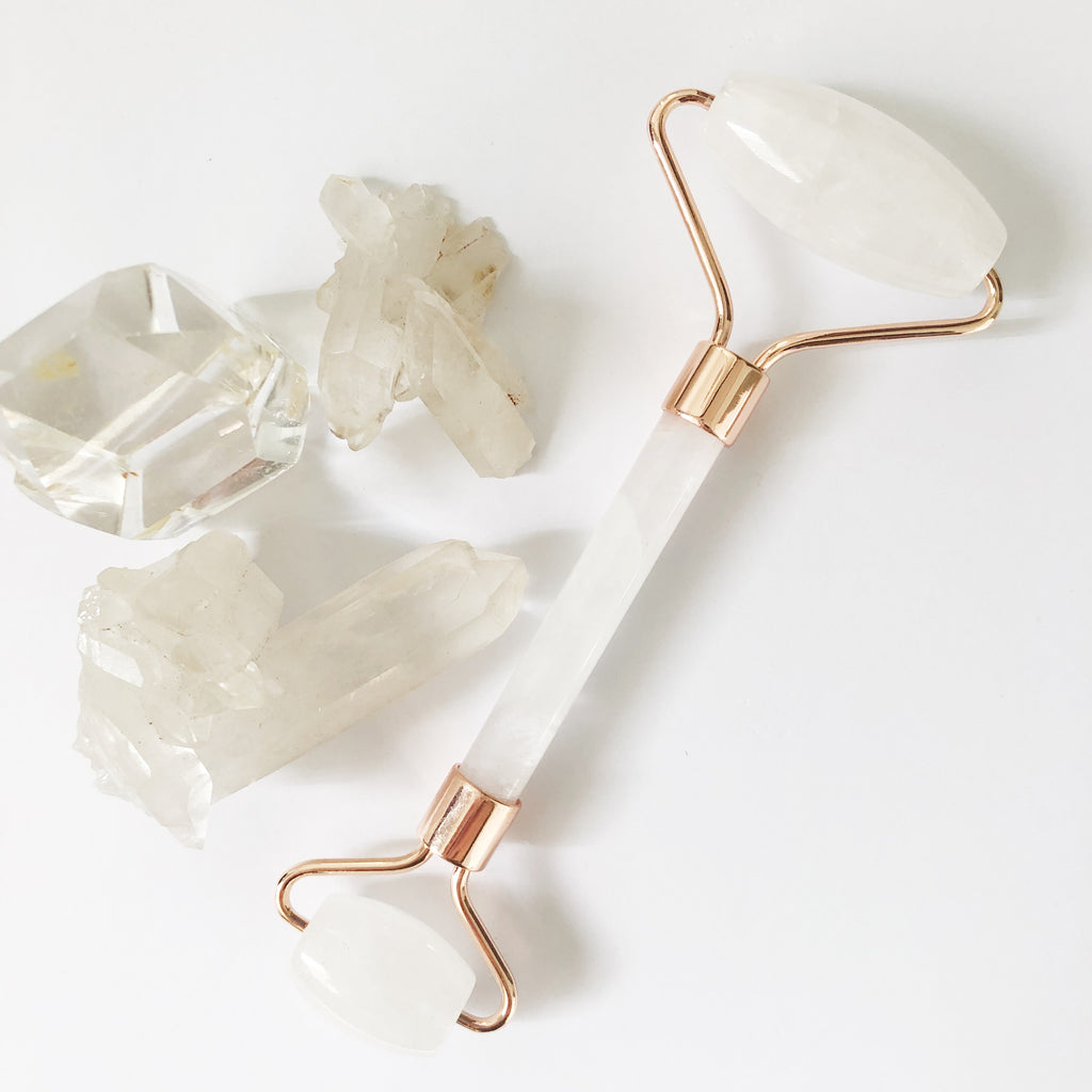 Clear Quartz Face Massage Roller