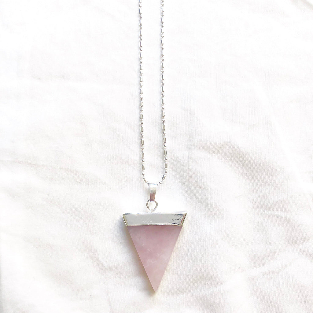Rose Quartz Triangle
