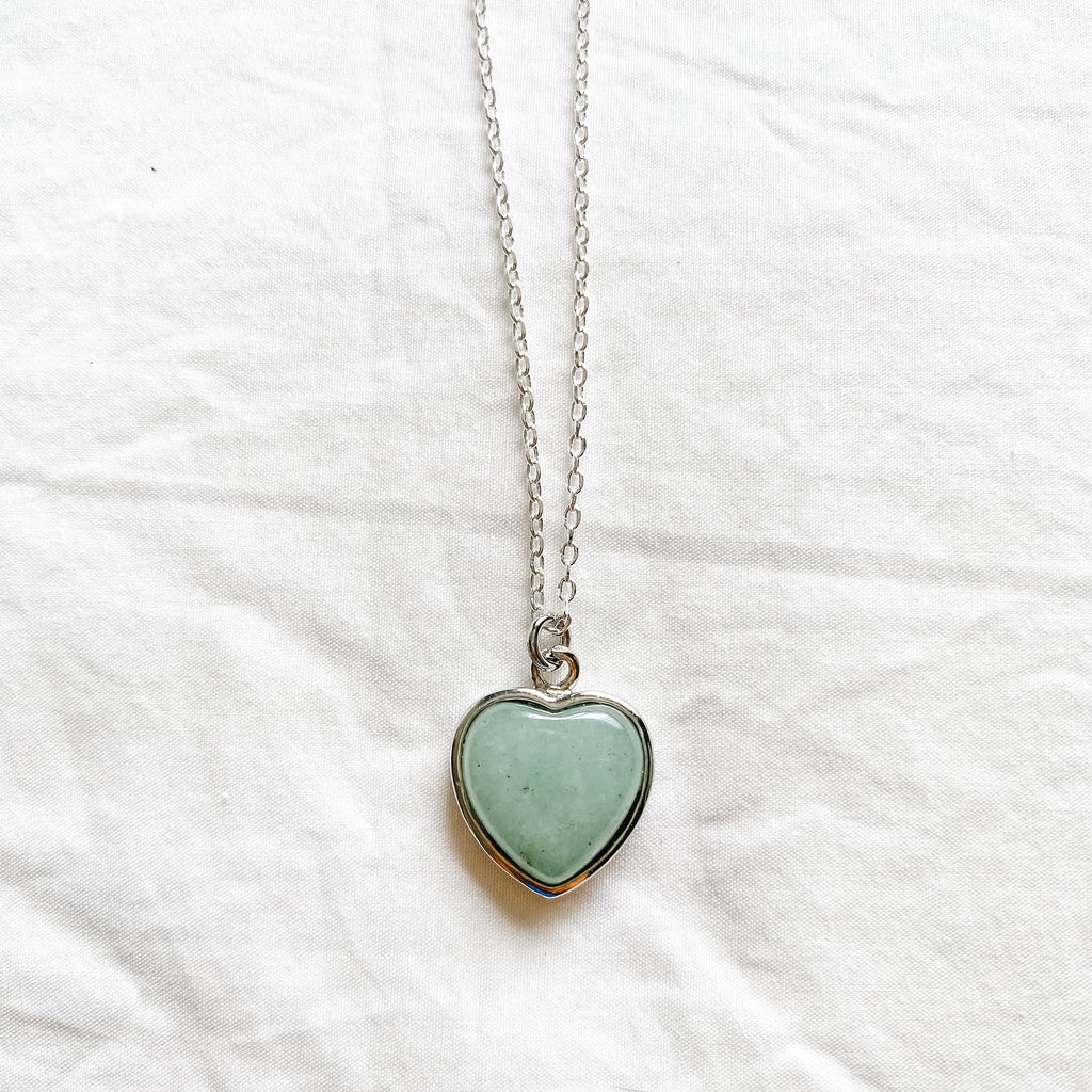 Green Aventurine Heart Necklace