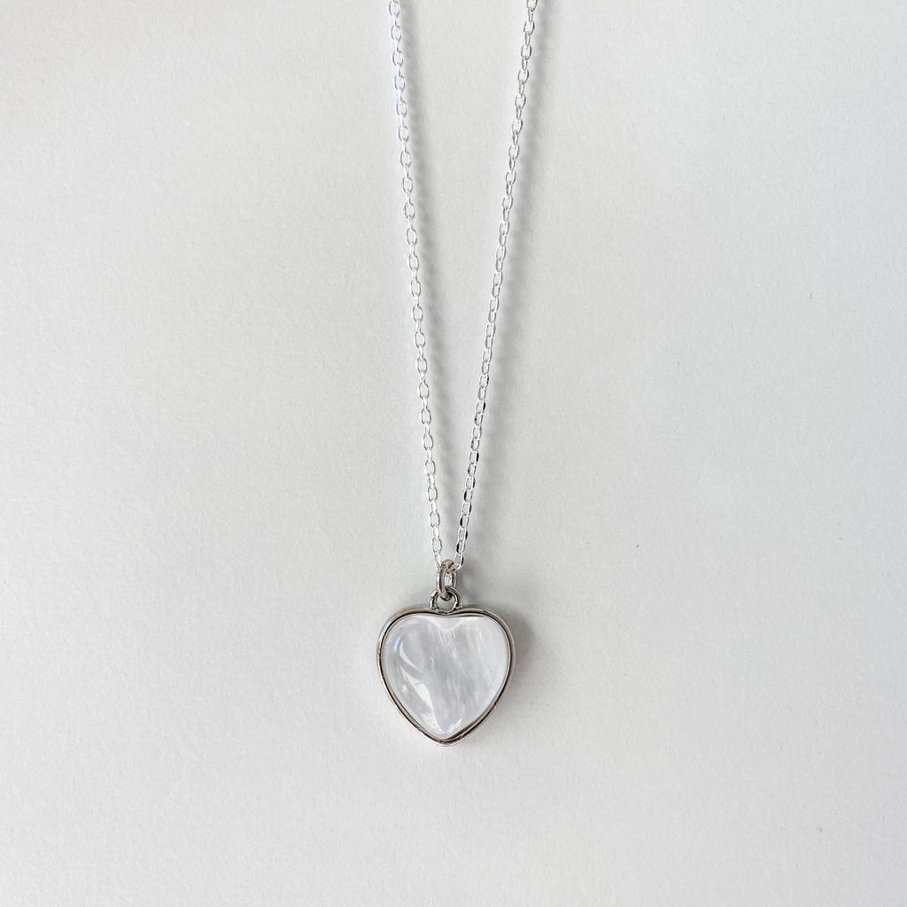 Clear Quartz Heart Necklace