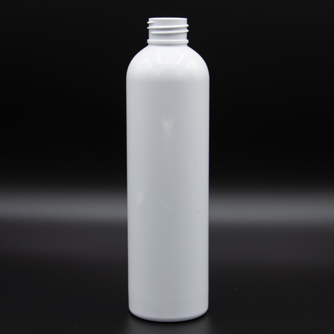 8oz | Shiny White Bottle | Neck Size 24/410 | Bullet (432 PCS per Case) | SSW | SHSalons.com