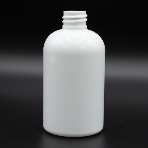 4oz | Shiny White Bottle | Neck Size 20/410 | Boston Round (690 PCS per Case) | SSW | SHSalons.com