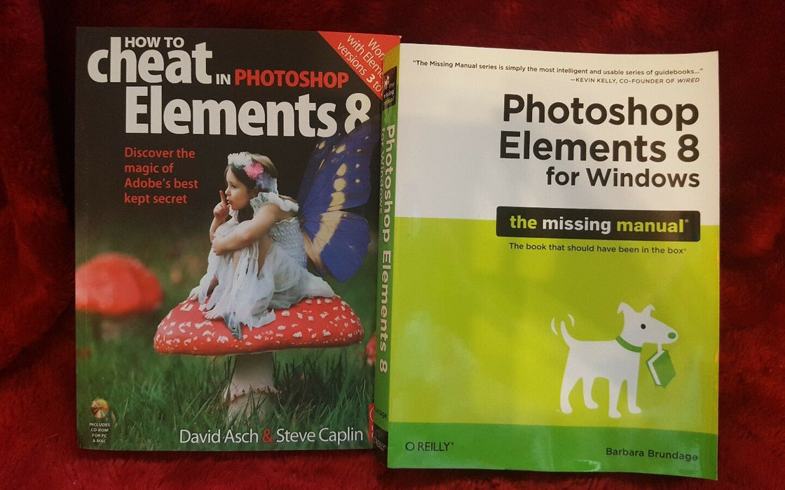 Lot 2:  How to Cheat in Adobe Photoshop Elements Book with CD & Photoshop Elemen