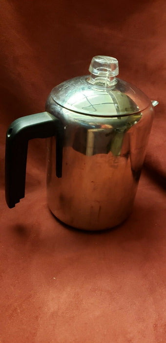 Vintage FARBERWARE L7680 Stainless Steel PERCOLATOR 4-8 CUP Stove Top COFFEE POT