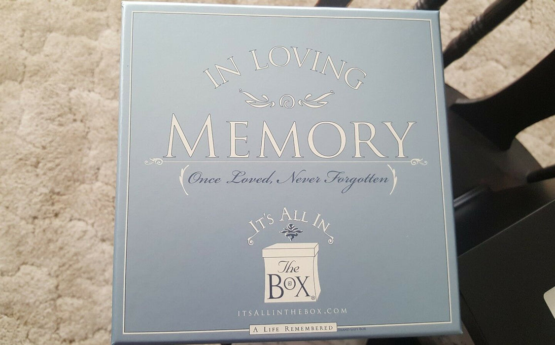 In Loving Memory Its all in a box NEW Wood Box Marshall Creative