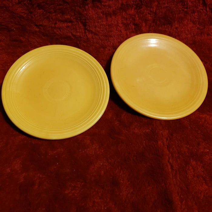 "Lot 2: Fiesta Ware 6"" Bread and Butter Small Plate - Canary Yellow"
