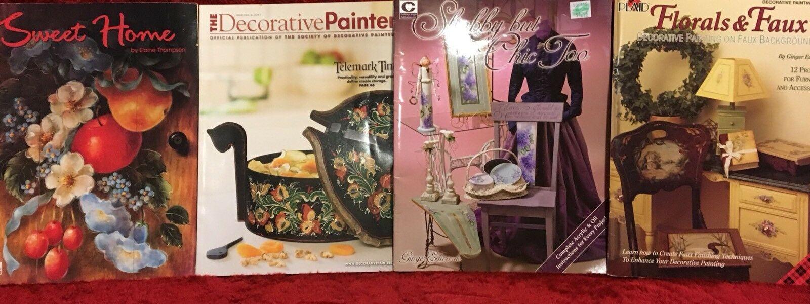 Tole Painting: Lot  of 4 Decorative Tole Painting Pattern Books