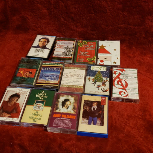 Lot 13: Christmas Cassette Tapes Placido Domingo, Steve Green, Andy Williams