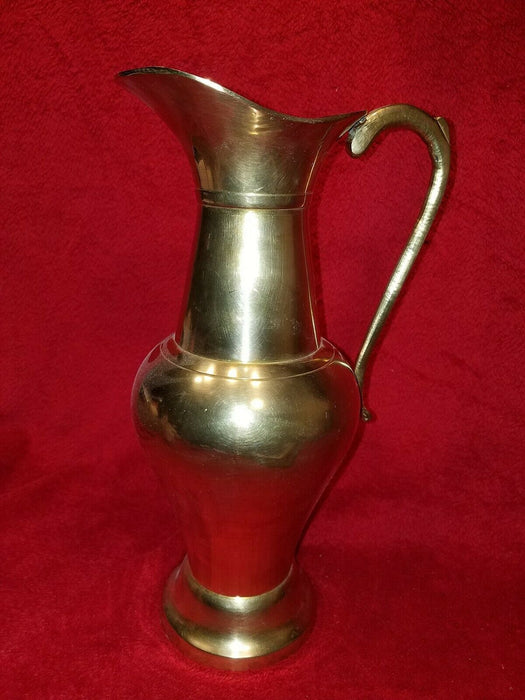 Vintage, Tall, Handled, Brass Water Jug Water Pitcher