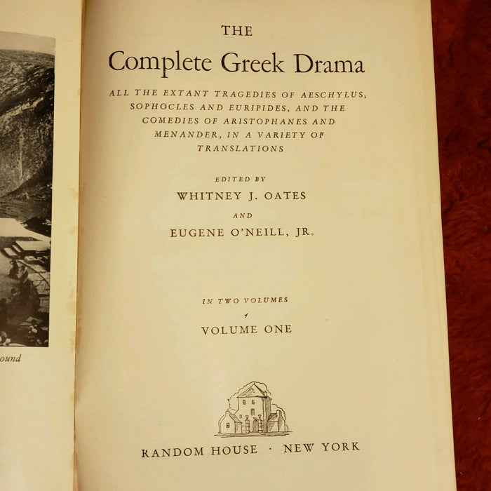 The Complete Greek Drama Oates O'Neill 2 vol Random House set 1938