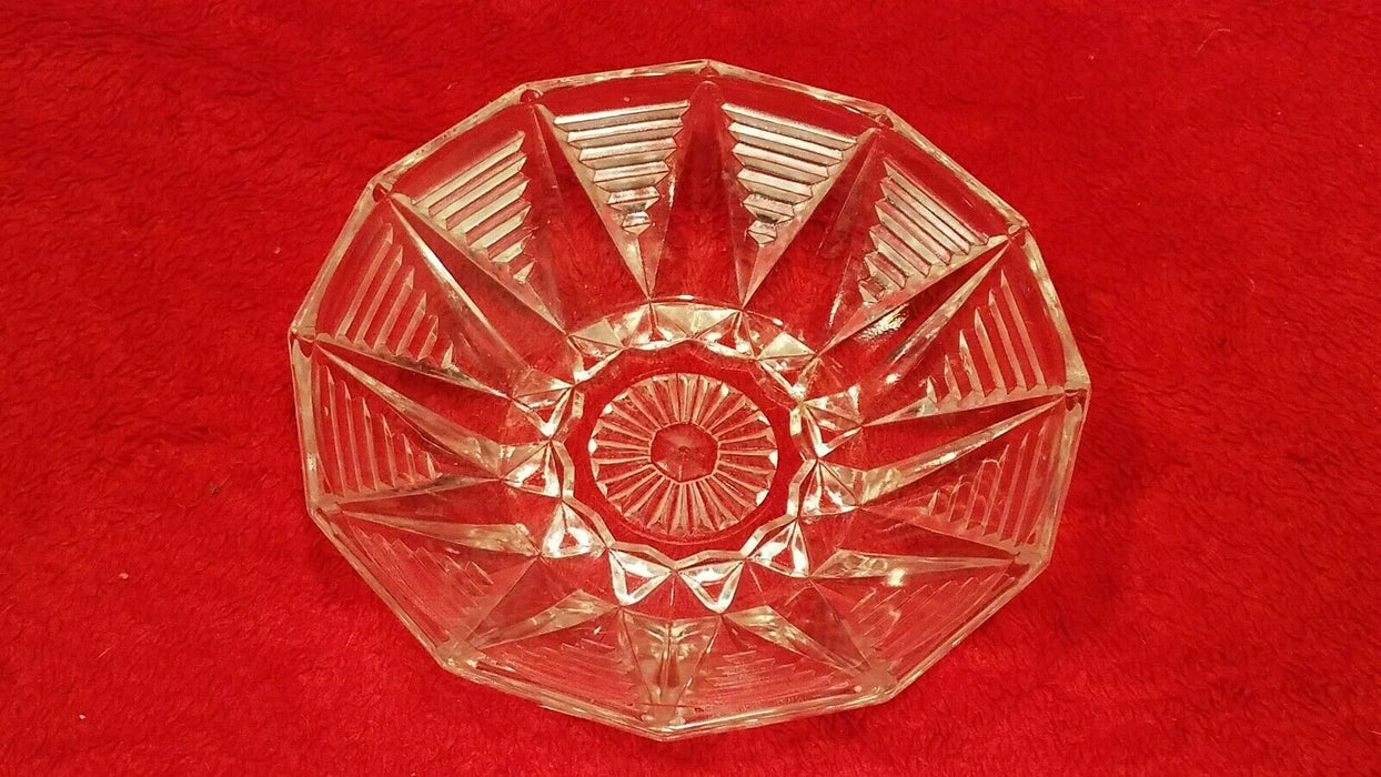 Set of 4 Etched Glass Small Candy Dish Bowls