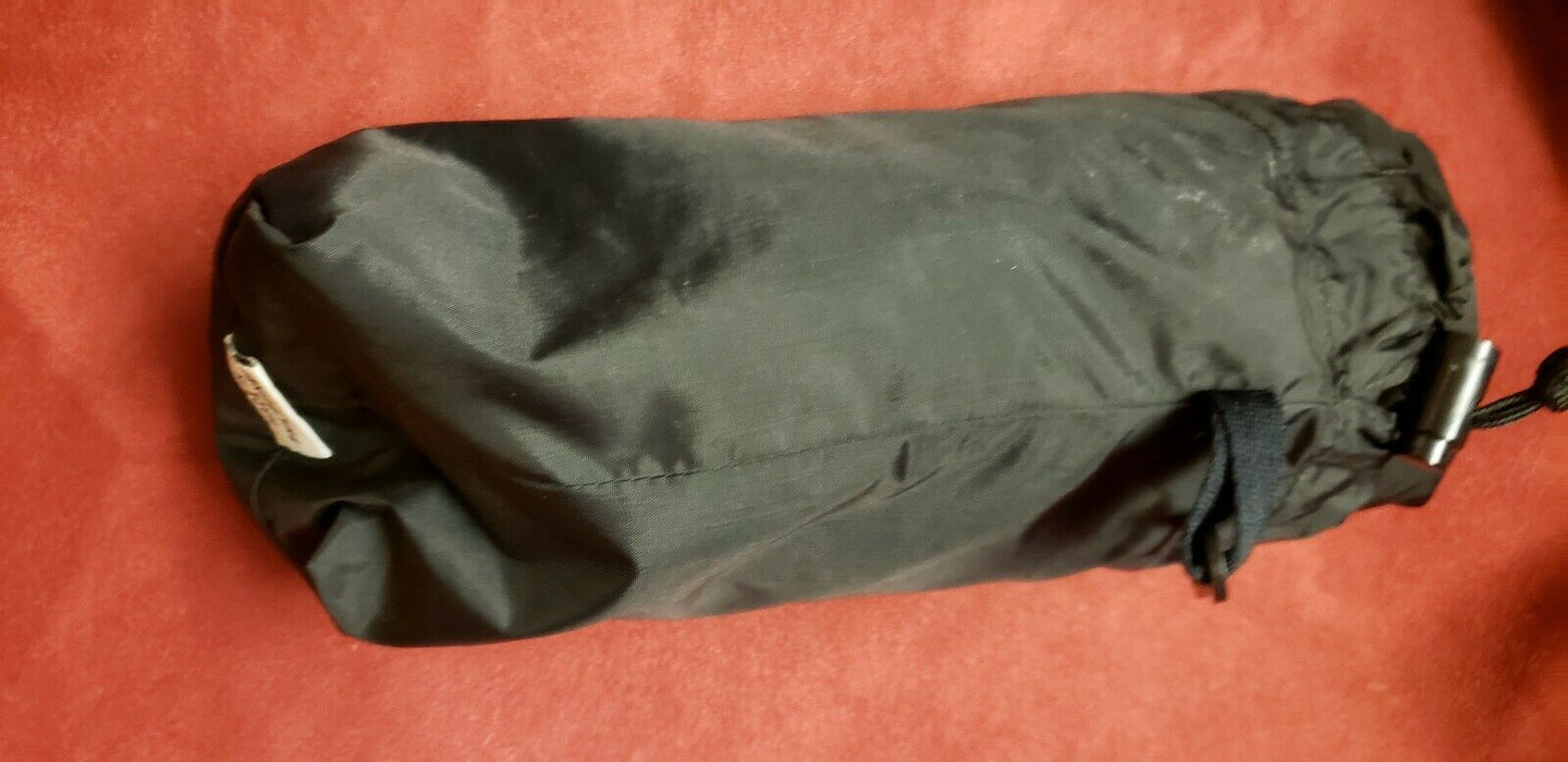 "SIERRA DESIGNS ""Pant"" Packable Waterproof Hiking Rain Pant Black Sz L"