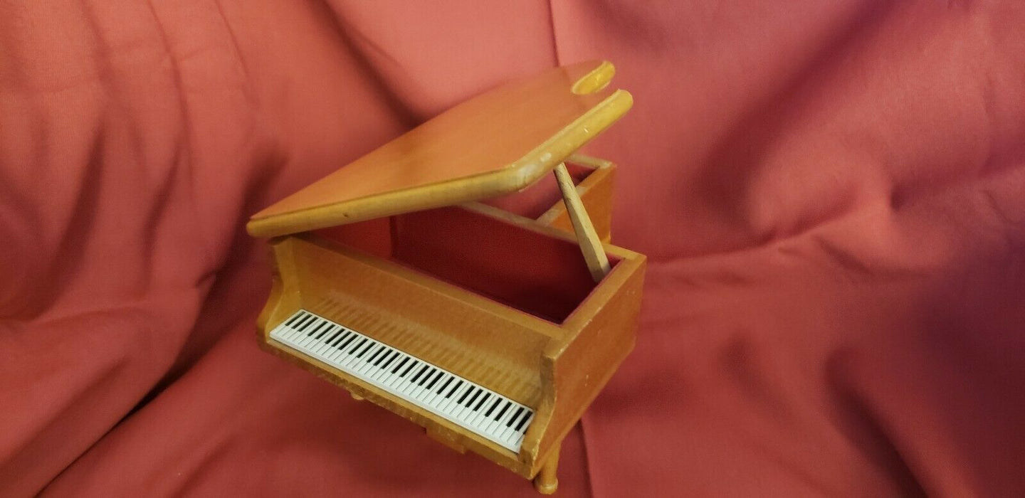 "Schmid Grand Piano Wood Music Box Tune #212 ""Emperor"" Beethoven Piano Concerto"