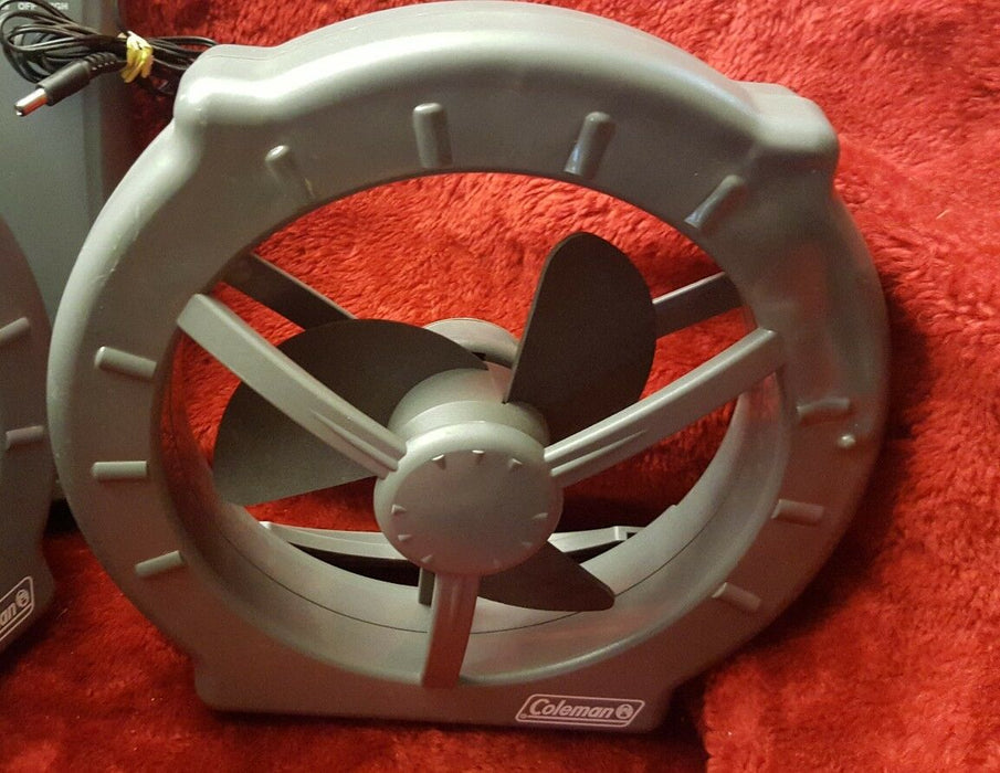 Pair Coleman Camping Hiking Battery Powerful Window Cool Fan Model 830A450