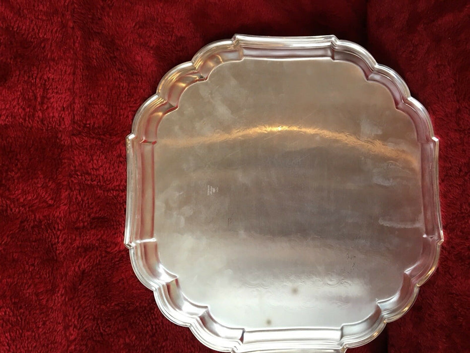 "GORHAM HERITAGE SILVER PLATED 13"" PLATTER TRAY"