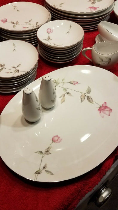 69 Piece 8 Place Setting of Dawn Rose Fine China w/ Serving Pieces Sango Japan