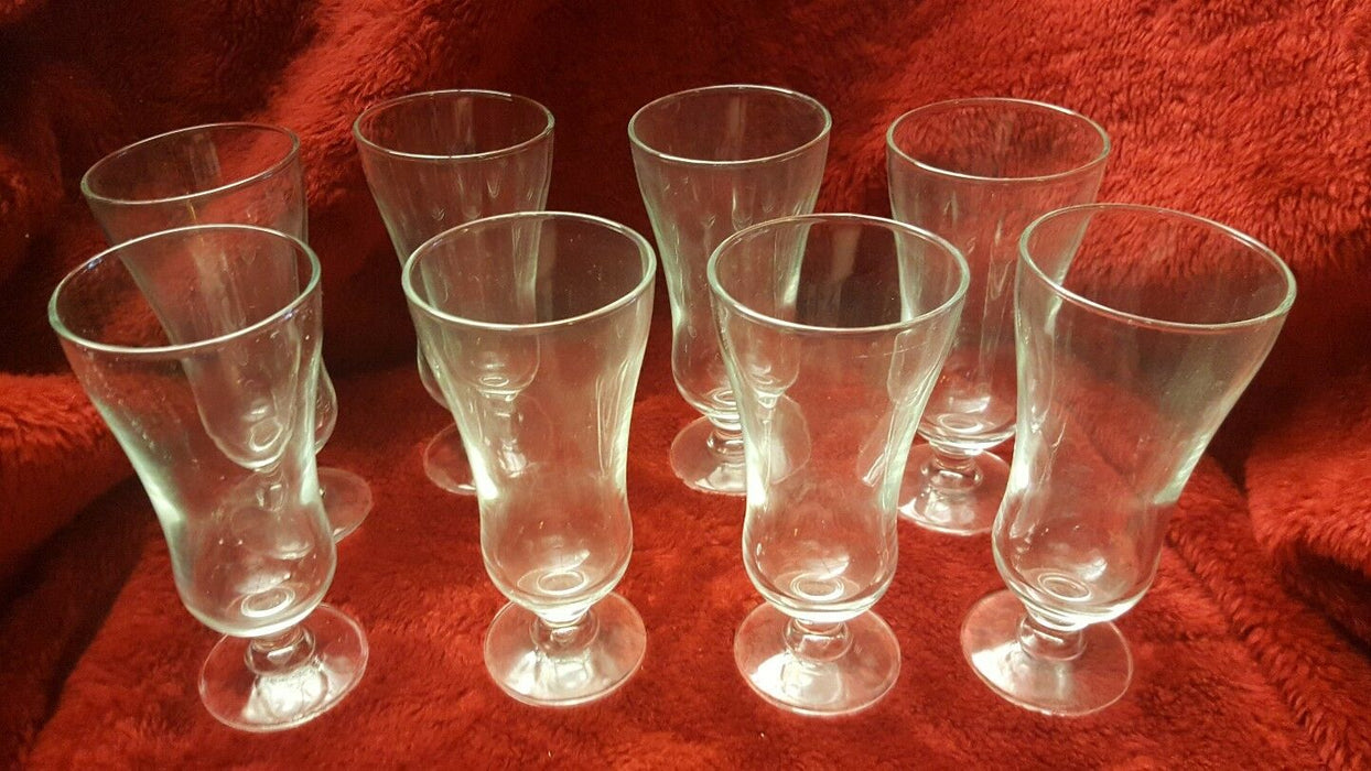 Lot 8: Smaller Mimosa Clear Glasses, 6 inches tall, 6oz