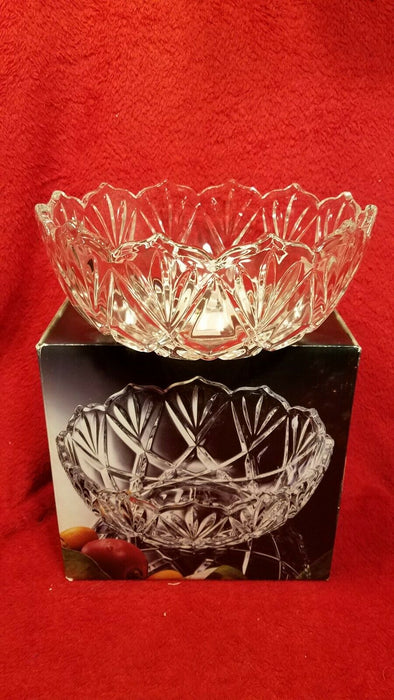 "Mikasa Roxborough Etched Crystal 8.25"" Serving Fruit Bowl"