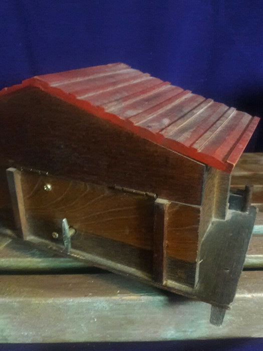 "Wooden Music Box Bavarian House Made in Japan Vintage ""Somewhere My Love"""