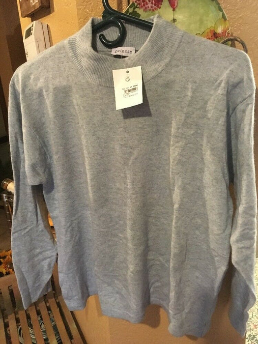 NWT Oviesse Italy Women's Sweater size L Carolina Blue Wool/ Cashmere Blend
