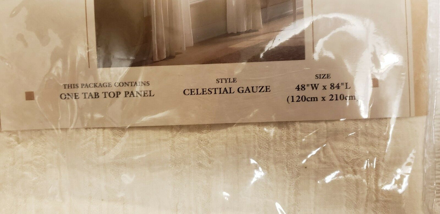 "Sears Viewpoints One Tab Top Solid Window Panel 48"" x 84"" Celestial Gauze"
