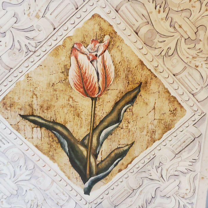 "Lot 4: Tulip Wall Art 6"" square Art Decor Framed Pictures"