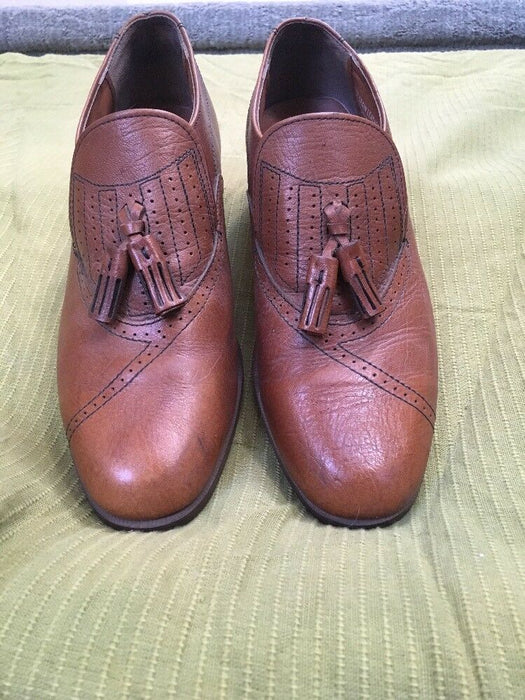 Streetcars Top grain Brown Leather uppers Loafers Men's 8.5 M EUC