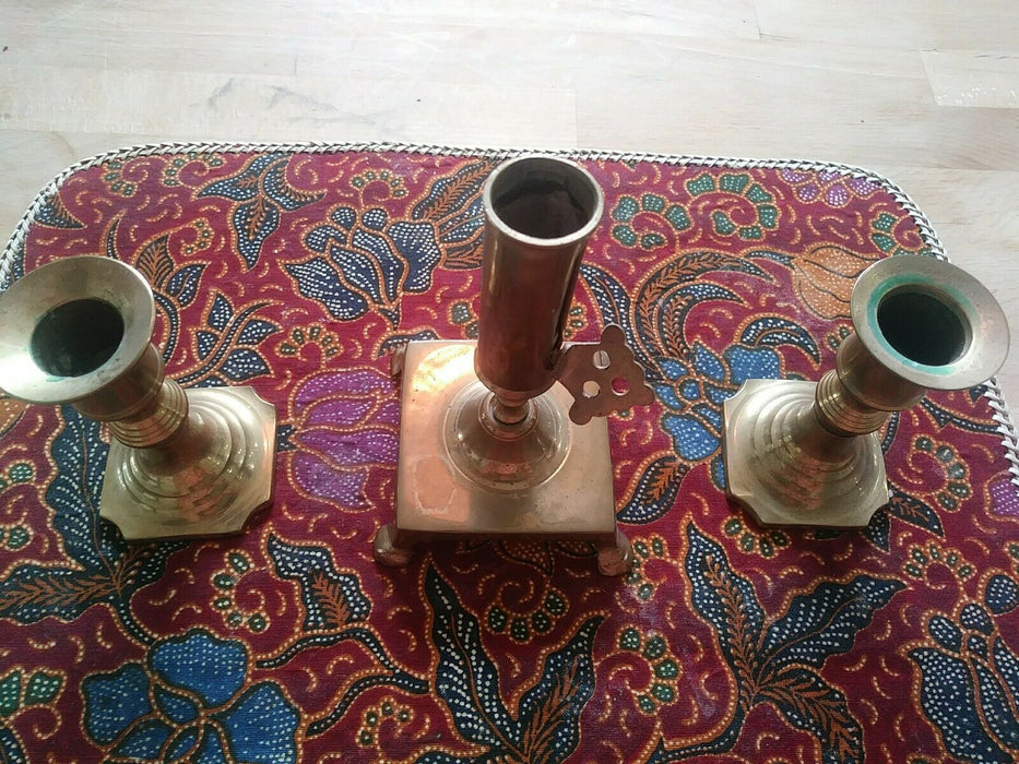 Lot 3: Solid Brass Candle Sticks