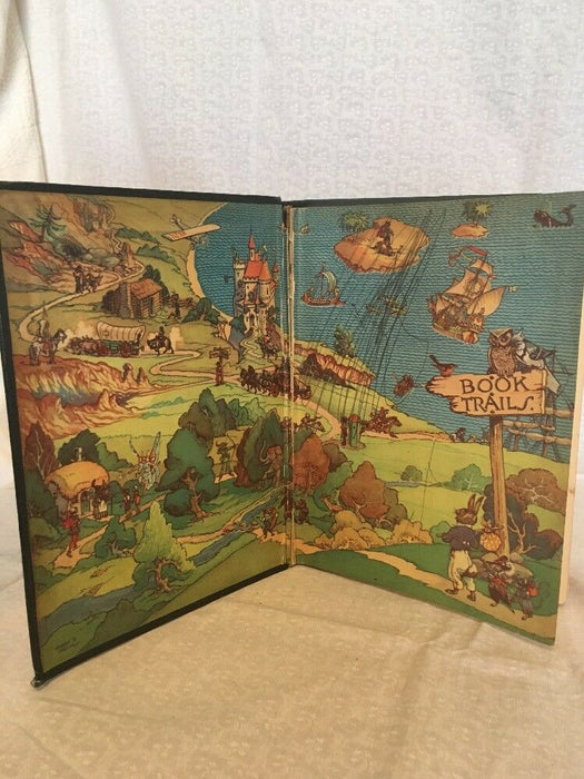 Vintage- Book Trails: On the Highroad to Adventure Vol. 4 by Beverly Pease 1928