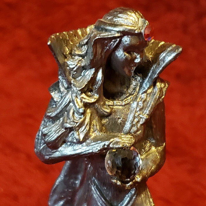 Vintage Michael Ricker Friendship Gift Of Love Dragon & Sorceress Figurines
