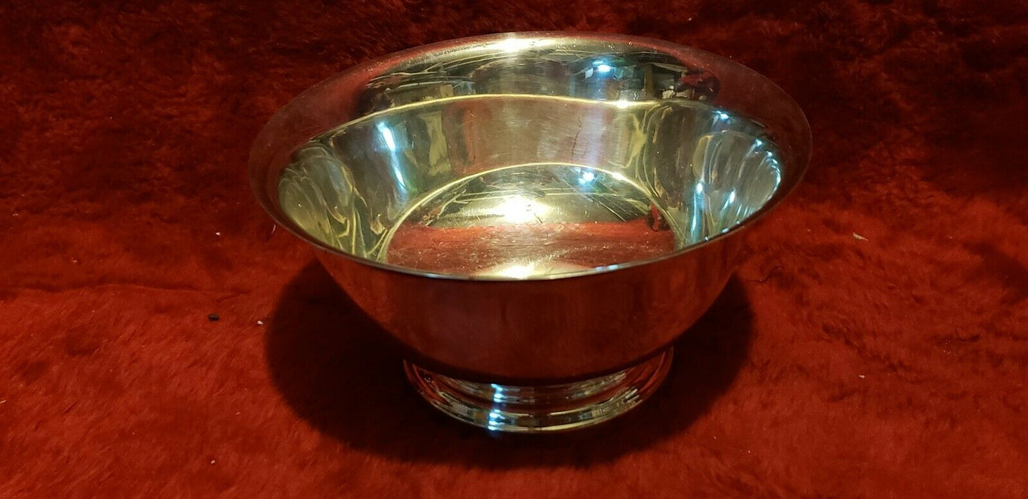 Vintage Cheshire Silver Plated Footed Bowl