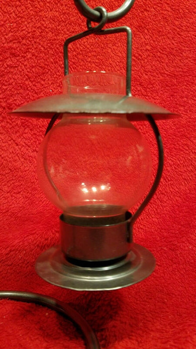 Hanging Pewter Hurricane Lantern Votive Candle Holder