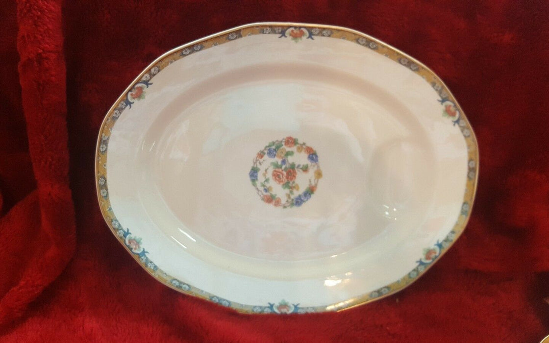 "Theodore Haviland Mogul Limoges 13.75"" Oval Serving Platter Floral"