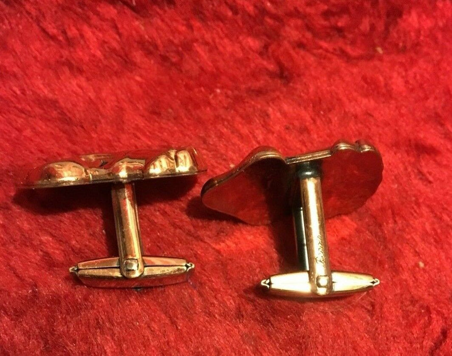 VINTAGE RENOIR COPPER Cuff Links And Clip Earrings