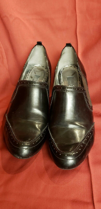 "Ruby & Bloom Womens Heels 3"" Black Strand Shoes Office  Sz 8.5M Vintage Look"