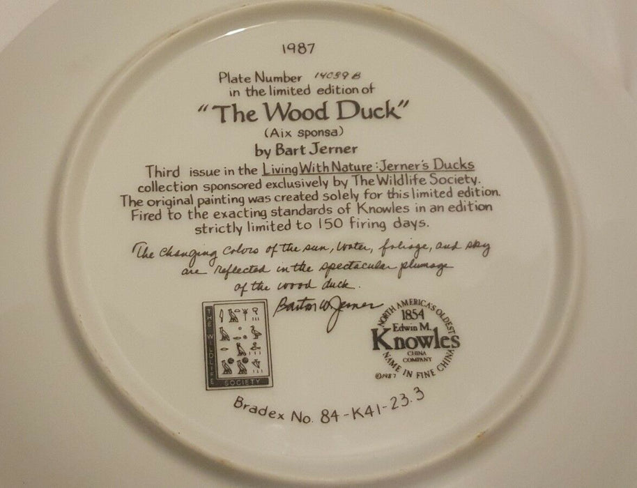 Lot 3: 1986/87 Knowles Living With Nature: Jerner's DUCKs Plates