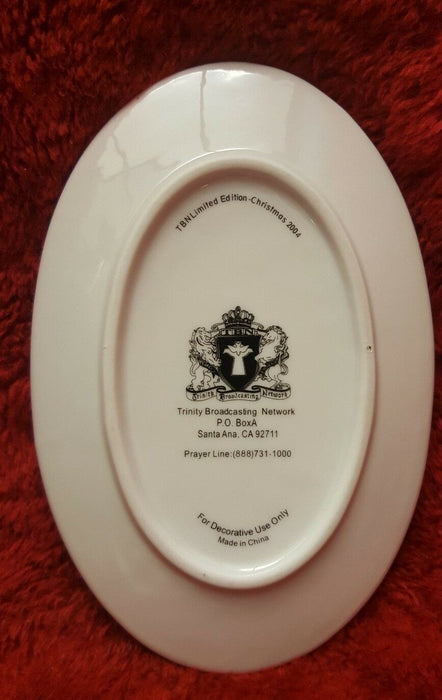 Limited Edition 2004 Christmas-Trinity Broadcasting Network Oval Plate