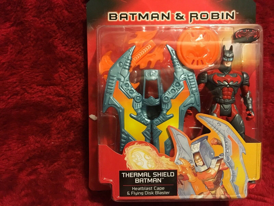 Batman & Robin Thermal Shield Batman-Heatshield Cape & Flying Disk Blaster